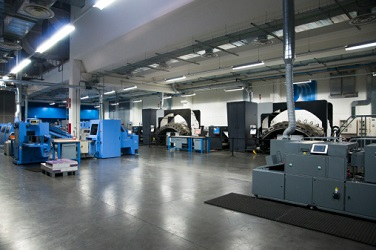 Image of an industrial print shop