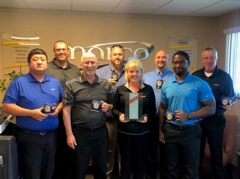Our Pierre, South Dakota office sure had a lot to celebrate at their annual summer get together, including a 2018 Konica Pro-Tech Service Award!