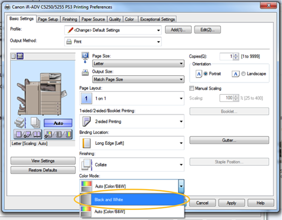 How-to Set Up 2-Sided Printing and B&W Defaults on Your Printer or MFP