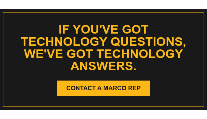 If you've got technology questions, we've got technology answers. Contact a Marco Rep
